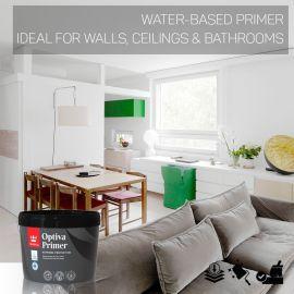 Tikkurila Optiva Water-Based Primer for Walls & Ceilings - Colour Match