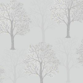 Opus Ornella Sequin Tree Wallpaper Light Slate