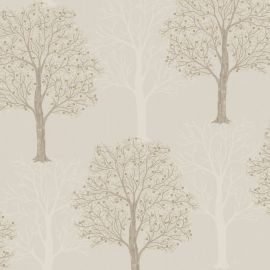 Opus Ornella Sequin Tree Wallpaper taupe