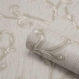 Perlina Tiffany Scroll Wallpaper Grey