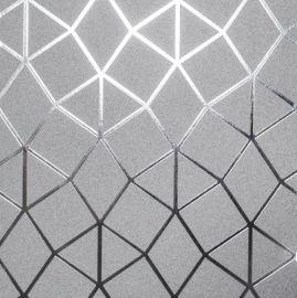 Platinum Geometric  Metallic Wallpaper Silver