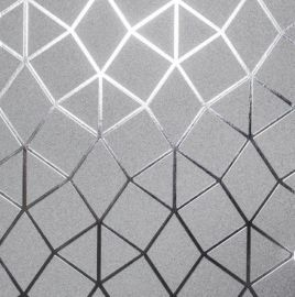 Platinum Geometric  Metallic Wallpaper Silver