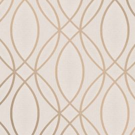 Pulse Ogee Wave Wallpaper Taupe