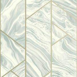 Geo Marble Glitter Wallpaper