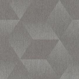 Aura 3D Effect Geometric Wallpaper Grey/Silver