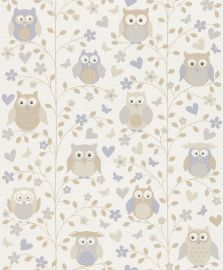 Kids & Teens Owl Wallpaper Neutrals