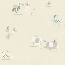 Rasch Bambino Elephant and Friends Wallpaper