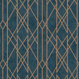 Gemini Lattice Metallic Wallpaper