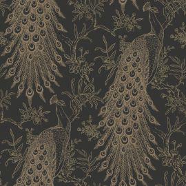 Metallic Peacock Wallpaper