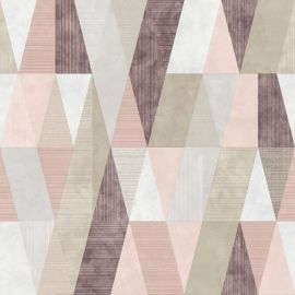 Vertex Geometric Metallic Wallpaper Pink/Purple