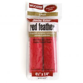 """Wooster Jumbo-Koter Red Feather Mini Roller 4.5"""" 2 Pack"""