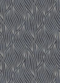 Carat Glitter Wave Wallpaper Charcoal & Black