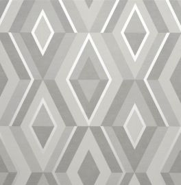 Shard Geometric Wallpaper Grey