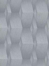 3D Effect Metallic Wallpaper Silver