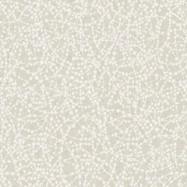 A swirl glitter wallpaper with circular swirls featured throughout a cream background.