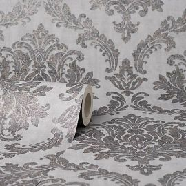 Tulsa Textured Damask Wallpaper