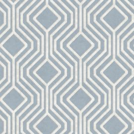 It is a light blue wallpaper with a sequin geometric-style pattern on top.