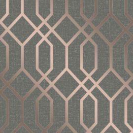 Quartz Metallic Trellis Wallpaper