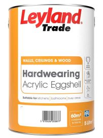 Leyland Trade Hardwearing Acrylic Eggshell - Colour Match