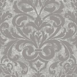 Collingwood Metallic Damask Wallpaper Silver