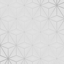 Pulse Star Geo Wallpaper Silver
