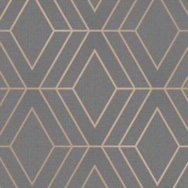 Pulse Diamond Geo Wallpaper Charcoal