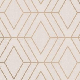 Pulse Diamond Geo Wallpaper Taupe