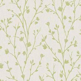 Twiggy Floral Wallpaper Green