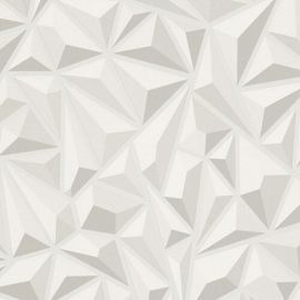 3D Geometric Wallpaper White