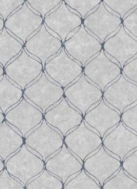 Vintage Trellis Wallpaper Navy