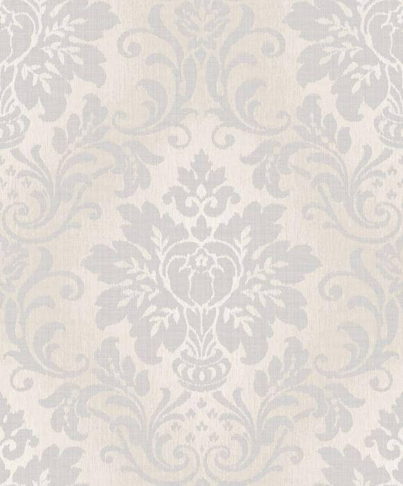 Fabric Damask Silver Wallpaper Grandeco Decorating Centre Online