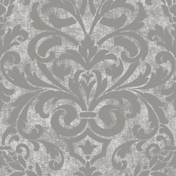 Collingwood Metallic Damask Wallpaper Silver I Pear Tree Designs