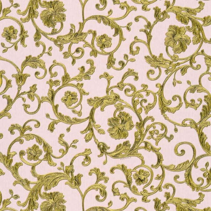 Versace Barocco Floral Wallpaper Blush Pink I Versace I Decorating