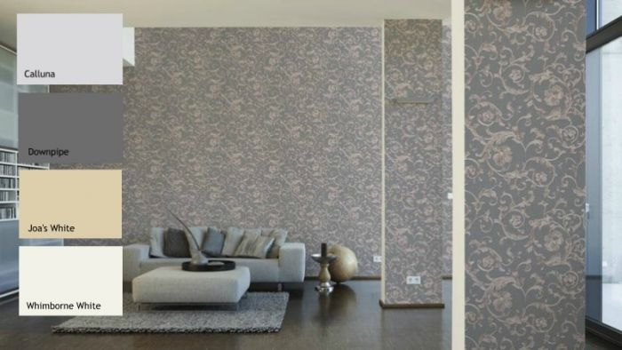Versace Barocco Floral Wallpaper Grey I Versace I Decorating