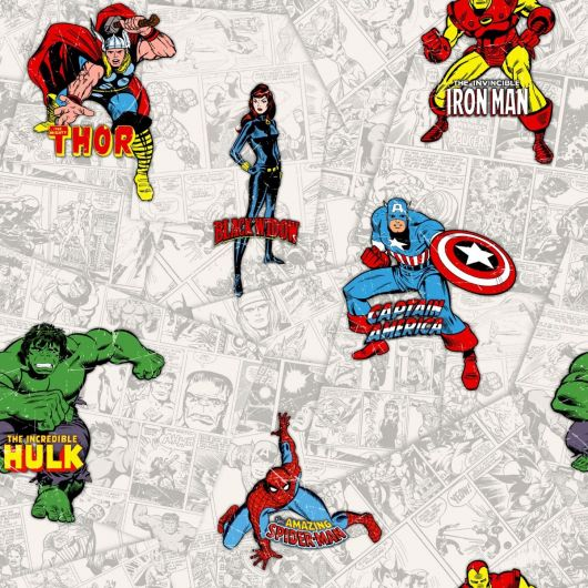Marvel Comic Superheroes Wallpaper Multi Muriva Decorating Centre Online
