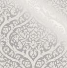 Sandringham Damask Pattern Wallpaper Silver