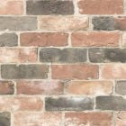 Reclaimed Brick Wallpaper Dusty Red