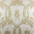 Milano Textured Glitter Damask Wallpaper Gold