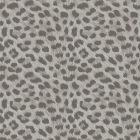 Leopard Animal Print Metallic Wallpaper Grey