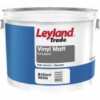 Leyland Trade Vinyl Matt 10L-Brilliant White