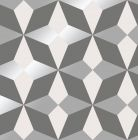 Nova Geometric Metallic Star Wallpaper Grey