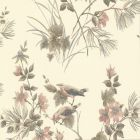 Rosemore Flower Bird Wallpaper Cream