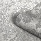 San Remo Damask Wallpaper Grey