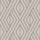 Metallic Geo Diamond Wallpaper Rose Gold