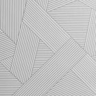 A close geometric design with glittery silver across the wallpaper sample.