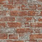 Imitations Rustic Brick Wallpaper Rustic Red