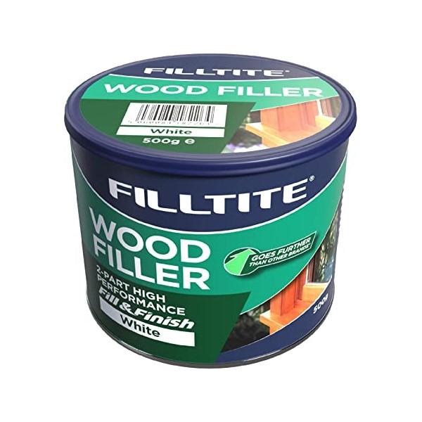 Filltite 2 Pack Wood Filler White - 500g