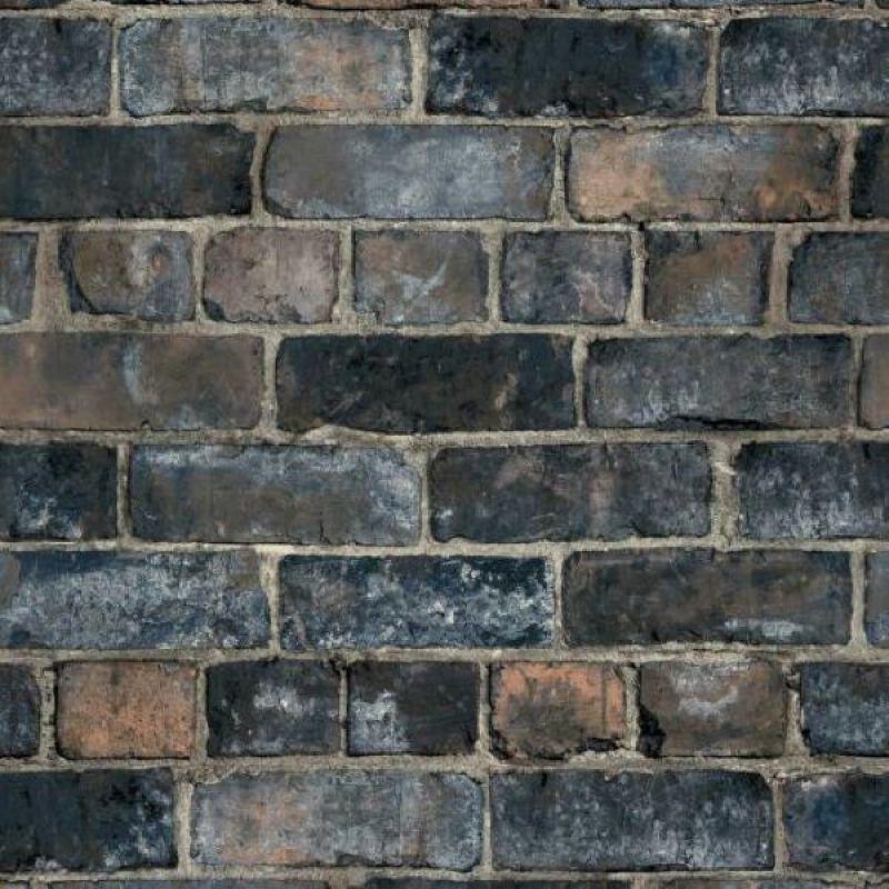 Durham Brick Industrial Wallpaper Blue