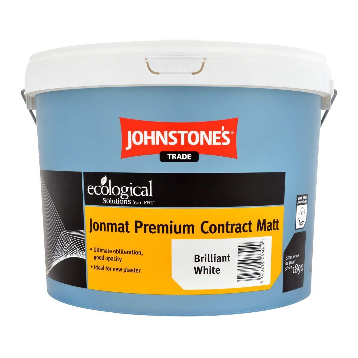 Johnstone's Trade Jonmat Premium Contract Matt Brilliant White 10L
