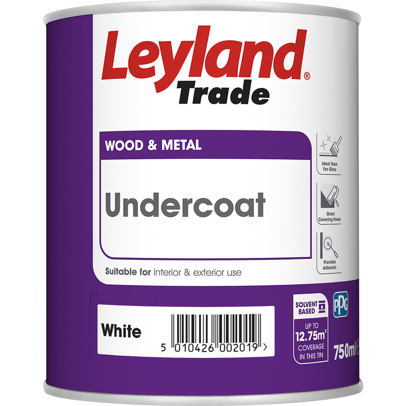 Leyland Trade Undercoat Paint White 750ml